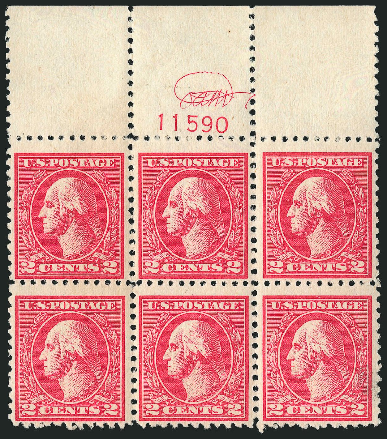 US Stamp Prices Scott Cat. # 528A - 1920 2c Washington Offset Perf 11. Robert Siegel Auction Galleries, Apr 2015, Sale 1096, Lot 763