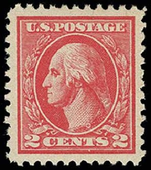 US Stamps Values Scott Cat. # 528B - 1920 2c Washington Offset Perf 11. H.R. Harmer, Jun 2013, Sale 3003, Lot 1377