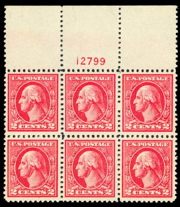 Values of US Stamps Scott Cat. #528B - 1920 2c Washington Offset Perf 11. Daniel Kelleher Auctions, Sep 2013, Sale 639, Lot 3639