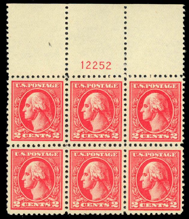 Costs of US Stamps Scott Catalogue #528B - 1920 2c Washington Offset Perf 11. Daniel Kelleher Auctions, Apr 2013, Sale 636, Lot 411
