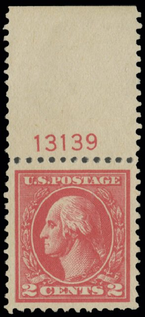 US Stamp Value Scott Cat. # 528B - 2c 1920 Washington Offset Perf 11. H.R. Harmer, May 2014, Sale 3005, Lot 1303