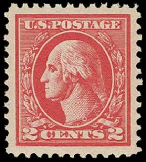 US Stamps Value Scott 528B - 1920 2c Washington Offset Perf 11. H.R. Harmer, Jun 2015, Sale 3007, Lot 3353