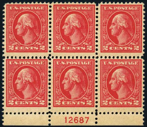Cost of US Stamps Scott # 528B - 2c 1920 Washington Offset Perf 11. Harmer-Schau Auction Galleries, May 2013, Sale 97, Lot 396