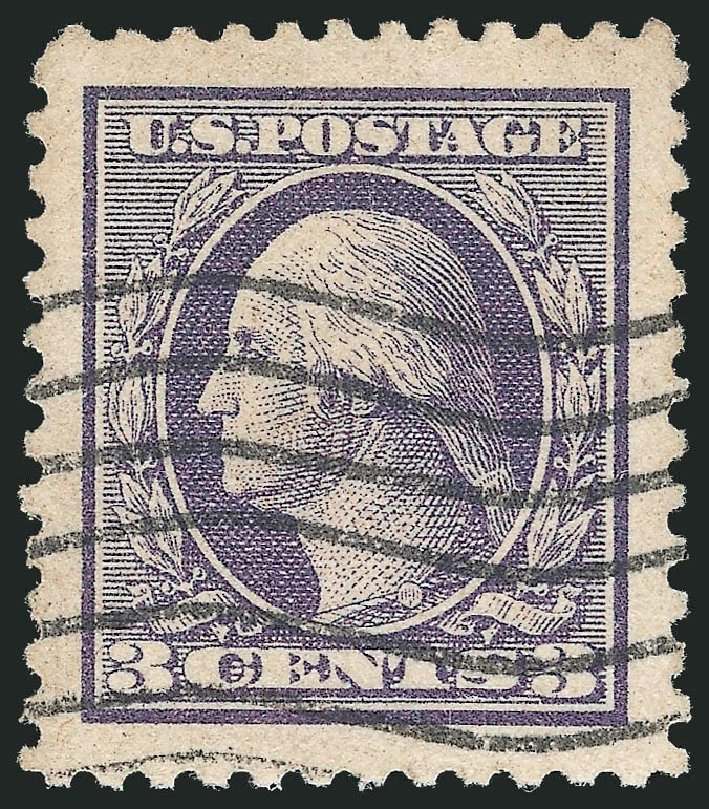 US Stamps Prices Scott Cat. 529 - 1918 3c Washington Offset Perf 11. Robert Siegel Auction Galleries, Oct 2012, Sale 1032, Lot 3619