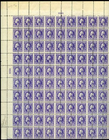 Prices of US Stamps Scott Catalogue # 530 - 1918 3c Washington Offset Perf 11. Harmer-Schau Auction Galleries, Jan 2013, Sale 96, Lot 587