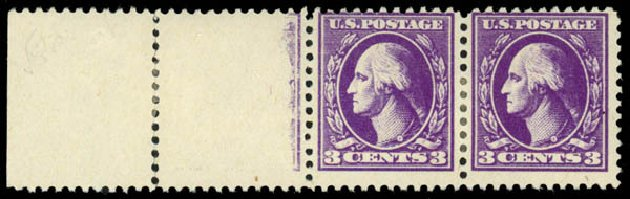 US Stamps Value Scott Catalogue #530: 1918 3c Washington Offset Perf 11. Daniel Kelleher Auctions, May 2014, Sale 652, Lot 727
