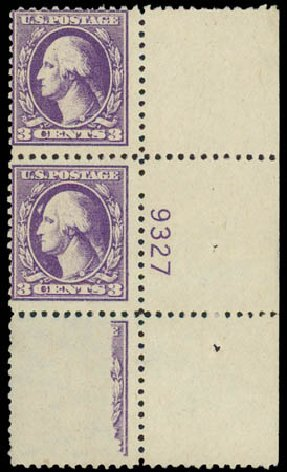 Prices of US Stamps Scott Catalogue #530 - 1918 3c Washington Offset Perf 11. Daniel Kelleher Auctions, Jul 2011, Sale 625, Lot 1034
