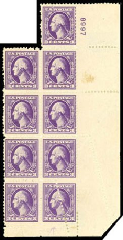 Prices of US Stamp Scott Catalogue # 530: 1918 3c Washington Offset Perf 11. Daniel Kelleher Auctions, Jul 2011, Sale 625, Lot 1035