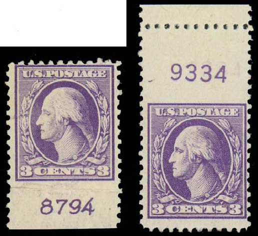 US Stamp Values Scott Catalog 530: 1918 3c Washington Offset Perf 11. Daniel Kelleher Auctions, Jul 2011, Sale 625, Lot 1036