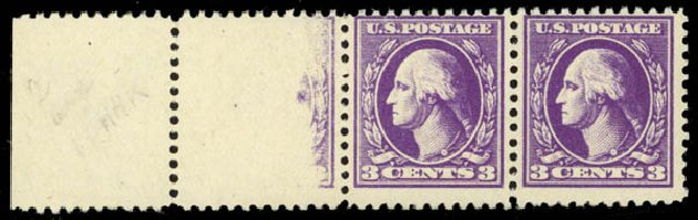 US Stamp Price Scott #530: 1918 3c Washington Offset Perf 11. Daniel Kelleher Auctions, May 2014, Sale 652, Lot 726