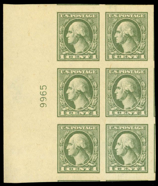 Cost of US Stamp Scott 531 - 1c 1919 Washington Offset Imperf. Daniel Kelleher Auctions, Mar 2013, Sale 635, Lot 634