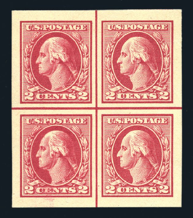 US Stamps Value Scott Catalogue 532 - 2c 1920 Washington Offset Imperf. Harmer-Schau Auction Galleries, Aug 2015, Sale 106, Lot 1867