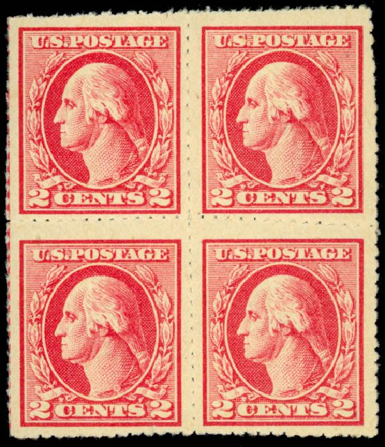 US Stamps Value Scott #532: 2c 1920 Washington Offset Imperf. Daniel Kelleher Auctions, Sep 2014, Sale 655, Lot 569