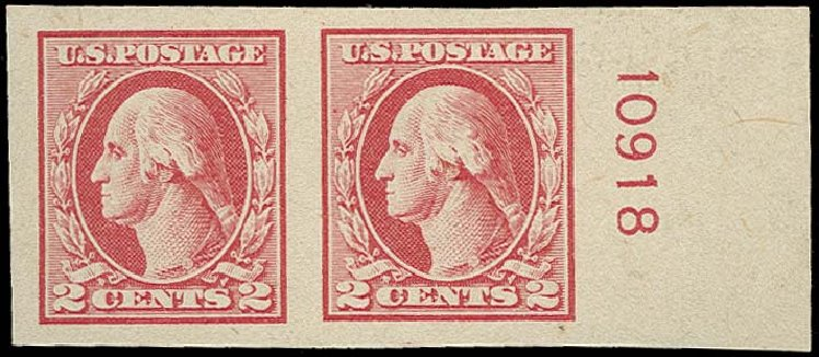 US Stamps Price Scott Cat. # 532 - 2c 1920 Washington Offset Imperf. H.R. Harmer, Oct 2014, Sale 3006, Lot 1400