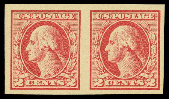 US Stamps Price Scott Catalogue 532 - 2c 1920 Washington Offset Imperf. Daniel Kelleher Auctions, May 2015, Sale 669, Lot 3124