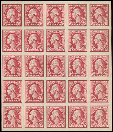Price of US Stamps Scott #532 - 2c 1920 Washington Offset Imperf. H.R. Harmer, Nov 2013, Sale 3004, Lot 1302