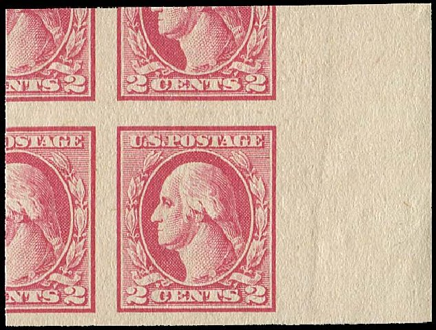 Value of US Stamps Scott 532 - 2c 1920 Washington Offset Imperf. Regency-Superior, Aug 2015, Sale 112, Lot 922