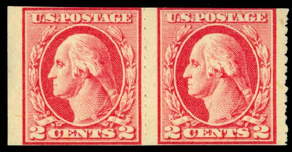 Cost of US Stamps Scott Catalog #532 - 2c 1920 Washington Offset Imperf. Daniel Kelleher Auctions, Jan 2015, Sale 663, Lot 1873