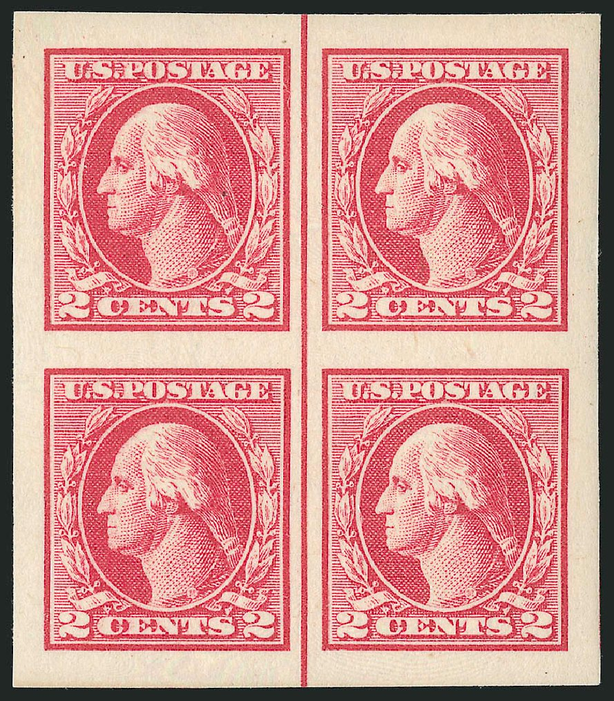 Value of US Stamp Scott 532: 1920 2c Washington Offset Imperf. Robert Siegel Auction Galleries, Dec 2013, Sale 1062, Lot 723