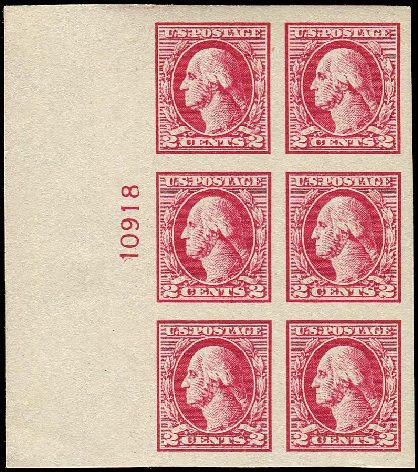 Value of US Stamps Scott Catalog #532: 2c 1920 Washington Offset Imperf. Regency-Superior, Nov 2014, Sale 108, Lot 1346