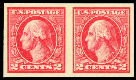 Value of US Stamp Scott 533: 1920 2c Washington Offset Imperf. Daniel Kelleher Auctions, Aug 2015, Sale 672, Lot 2788