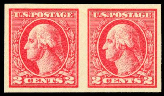 Value of US Stamp Scott 533: 1920 2c Washington Offset Imperf. Daniel Kelleher Auctions, Aug 2015, Sale 672, Lot 2788