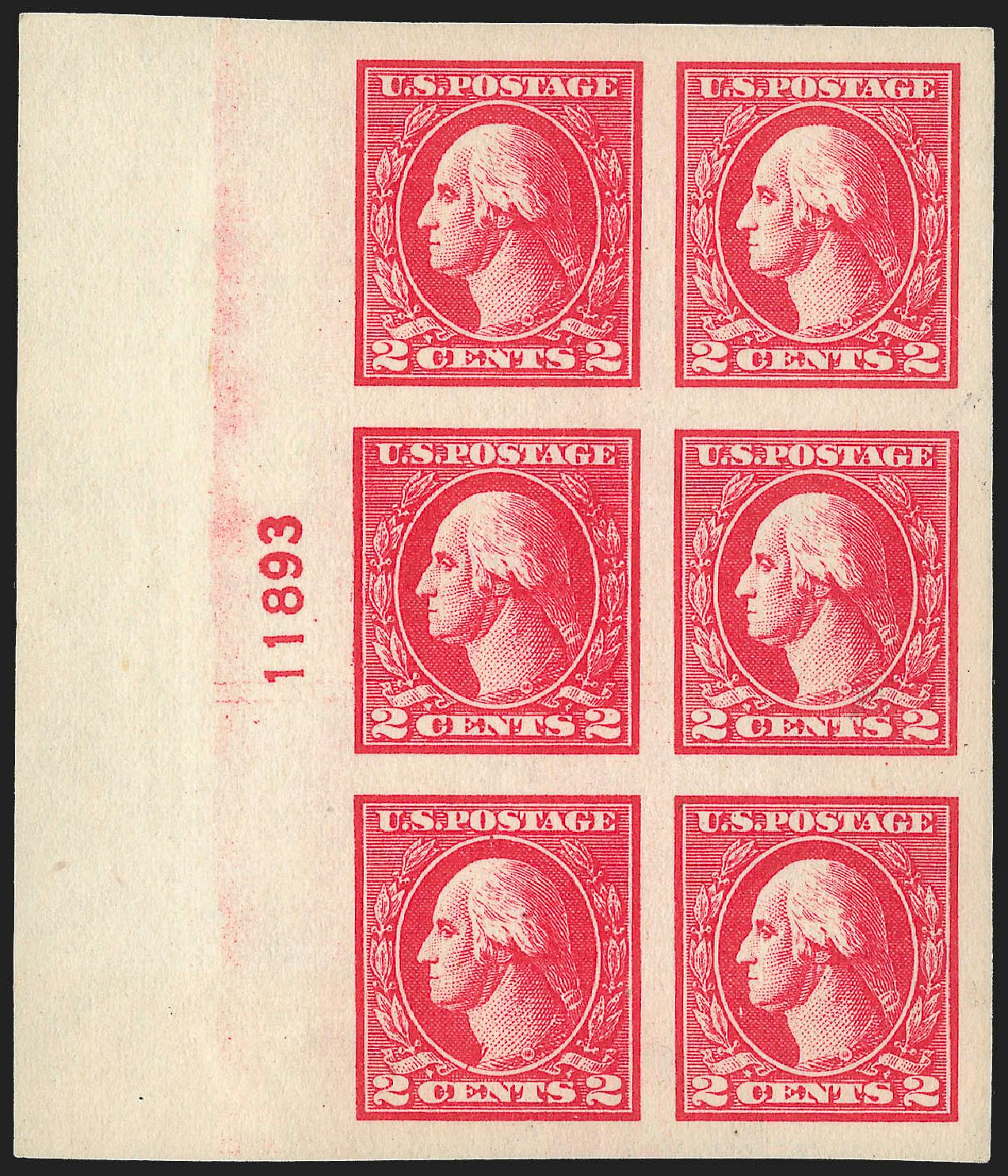 Prices of US Stamps Scott Catalogue #533: 2c 1920 Washington Offset Imperf. Robert Siegel Auction Galleries, Jul 2015, Sale 1107, Lot 509