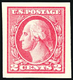 US Stamp Prices Scott Catalog #533: 1920 2c Washington Offset Imperf. Schuyler J. Rumsey Philatelic Auctions, Apr 2015, Sale 60, Lot 2430