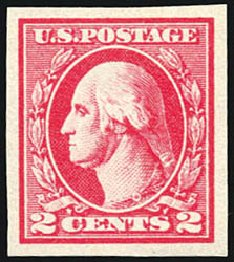 Values of US Stamp Scott Cat. 533: 1920 2c Washington Offset Imperf. Schuyler J. Rumsey Philatelic Auctions, Apr 2015, Sale 60, Lot 2431