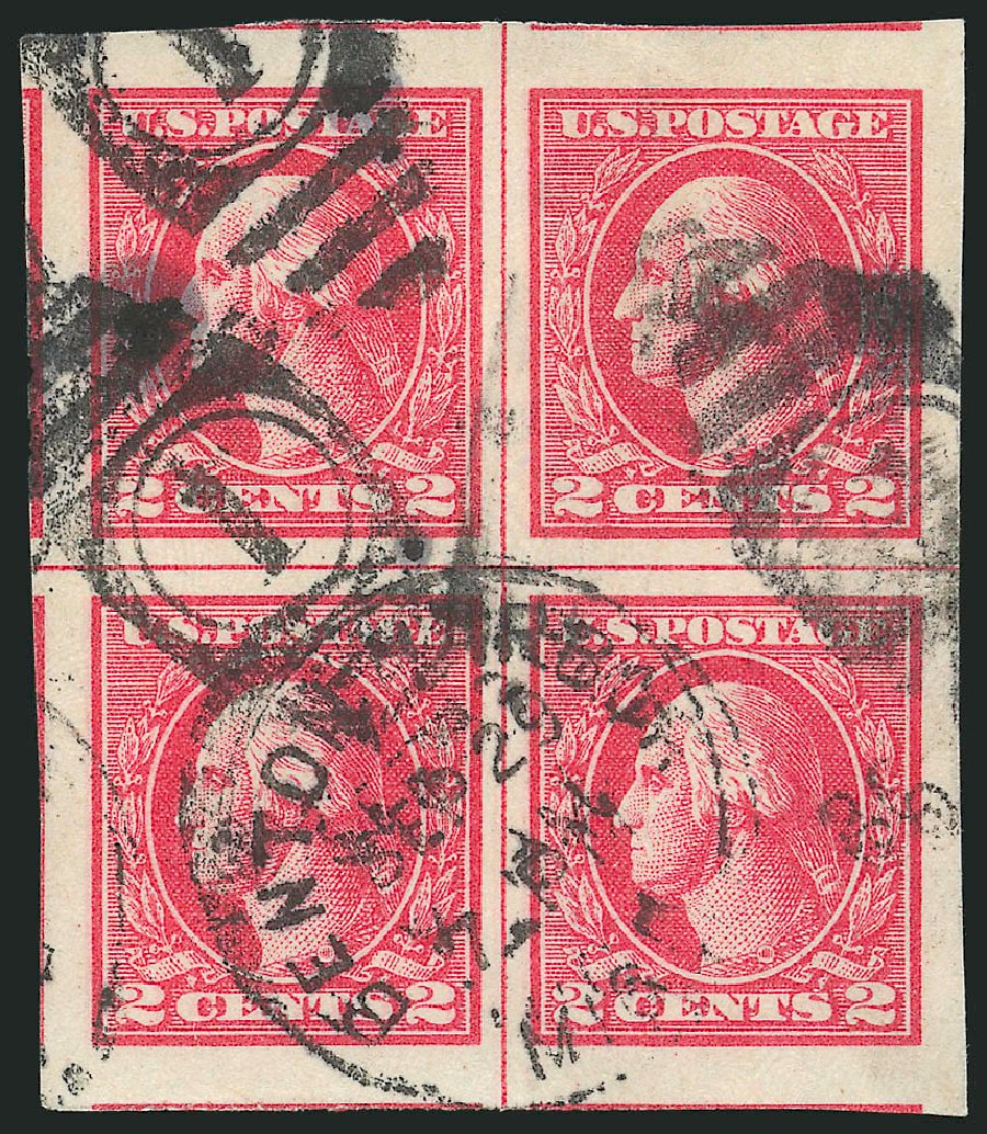 US Stamps Value Scott Catalogue #533 - 2c 1920 Washington Offset Imperf. Robert Siegel Auction Galleries, Feb 2015, Sale 1093, Lot 495