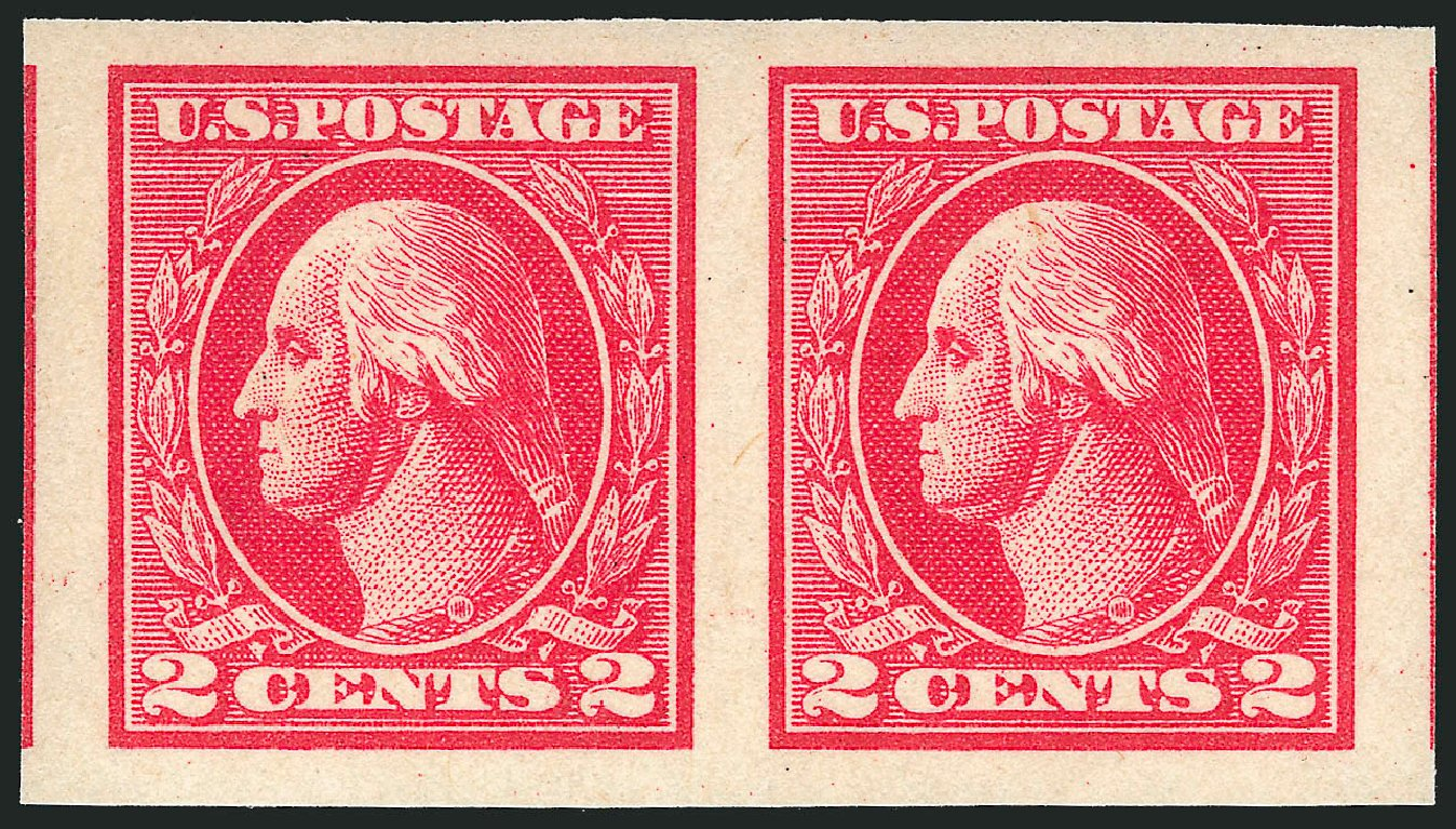 US Stamps Price Scott Cat. #533 - 2c 1920 Washington Offset Imperf. Robert Siegel Auction Galleries, Apr 2015, Sale 1096, Lot 765