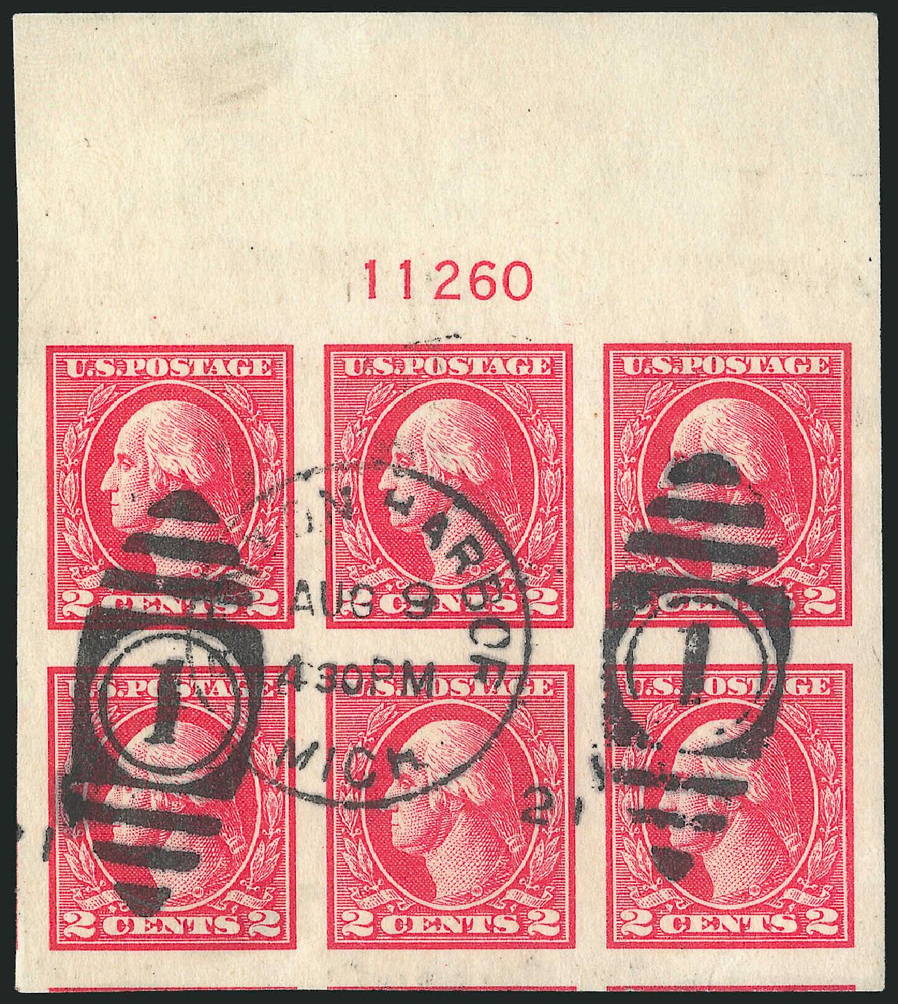 Values of US Stamp Scott Catalogue # 533: 1920 2c Washington Offset Imperf. Robert Siegel Auction Galleries, Feb 2015, Sale 1093, Lot 496