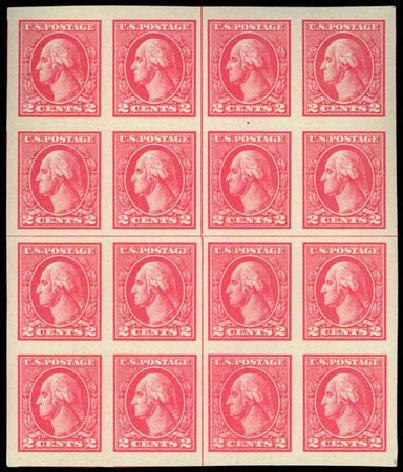 Cost of US Stamps Scott 534 - 2c 1920 Washington Offset Imperf. Daniel Kelleher Auctions, Jul 2011, Sale 625, Lot 1047
