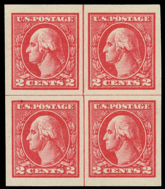 US Stamp Value Scott Catalog #534: 1920 2c Washington Offset Imperf. Daniel Kelleher Auctions, May 2015, Sale 669, Lot 3128