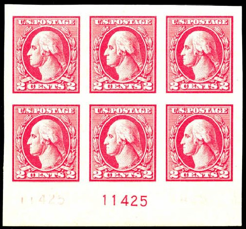 Value of US Stamps Scott Cat. 534: 1920 2c Washington Offset Imperf. Matthew Bennett International, Jun 2008, Sale 328, Lot 1029