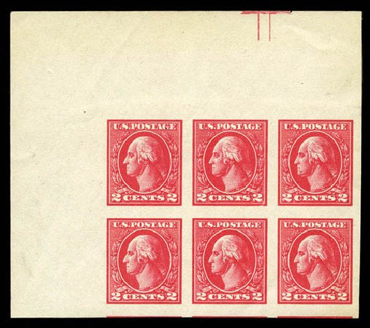 Prices of US Stamps Scott Cat. 534 - 2c 1920 Washington Offset Imperf. Matthew Bennett International, Mar 2012, Sale 344, Lot 4659