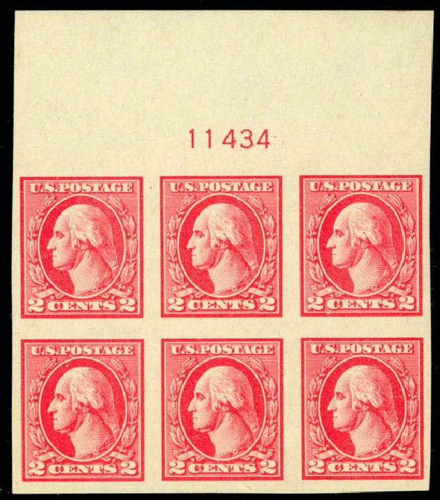 Cost of US Stamps Scott Catalog #534 - 1920 2c Washington Offset Imperf. Daniel Kelleher Auctions, Mar 2013, Sale 635, Lot 639