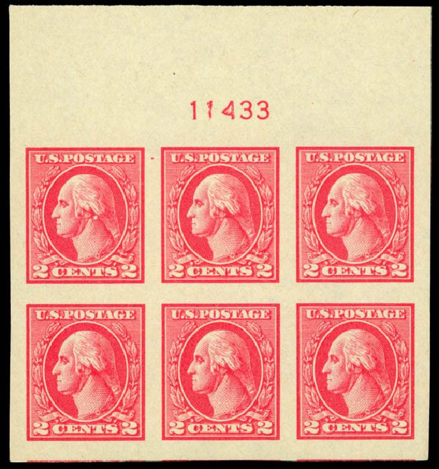 Cost of US Stamp Scott 534: 2c 1920 Washington Offset Imperf. Daniel Kelleher Auctions, Oct 2014, Sale 660, Lot 2419