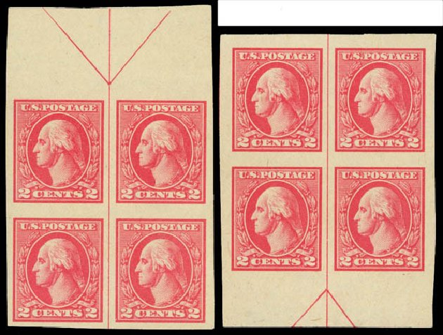 US Stamp Value Scott Cat. # 534 - 2c 1920 Washington Offset Imperf. Daniel Kelleher Auctions, Aug 2012, Sale 631, Lot 1280
