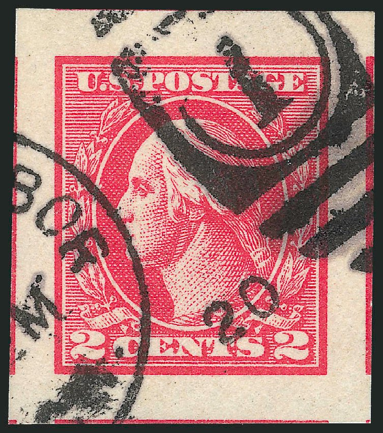 US Stamp Values Scott #534 - 1920 2c Washington Offset Imperf. Robert Siegel Auction Galleries, Oct 2012, Sale 1032, Lot 3625
