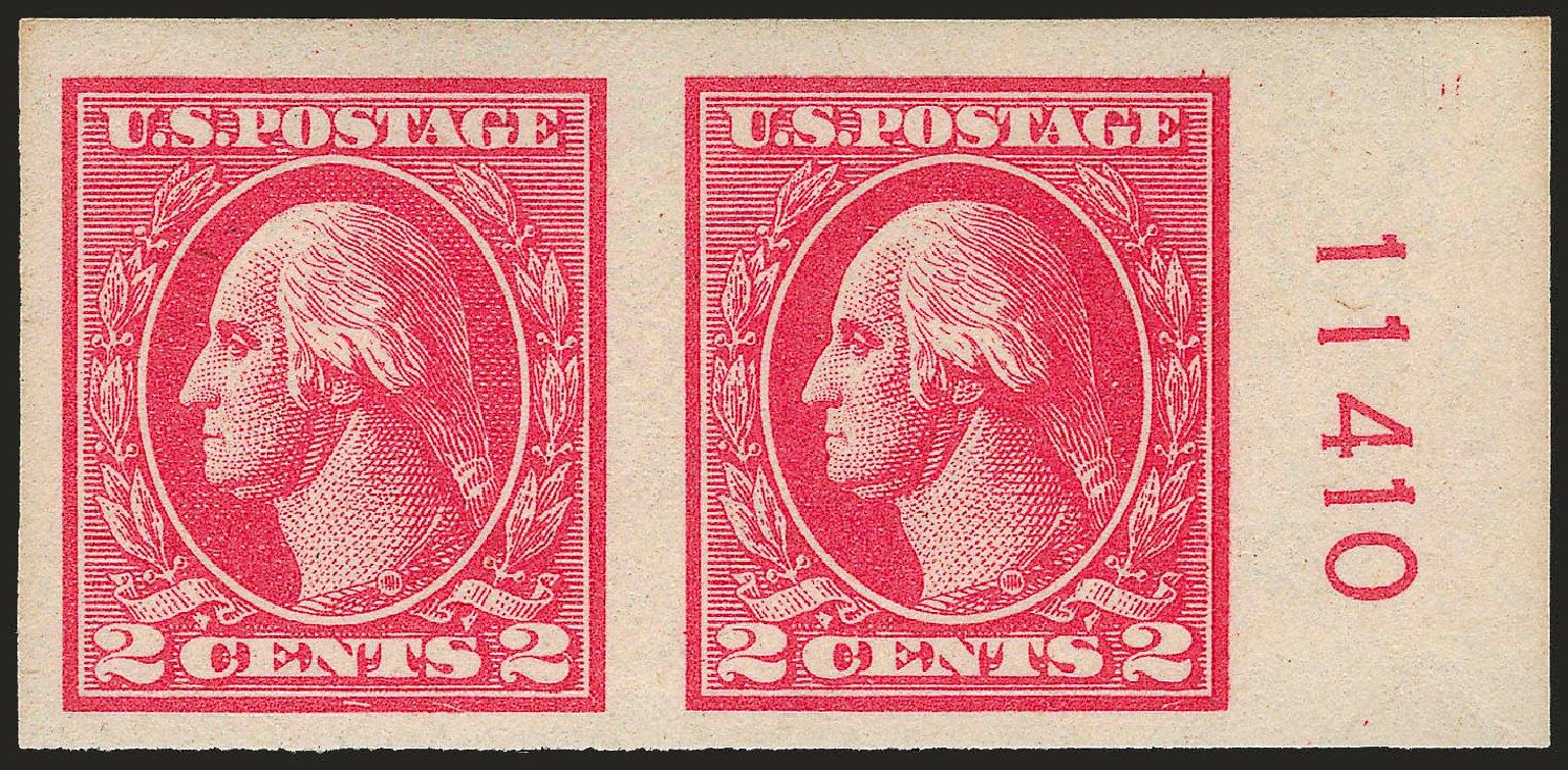 US Stamp Value Scott Catalogue # 534: 2c 1920 Washington Offset Imperf. Robert Siegel Auction Galleries, Sep 2009, Sale 968B, Lot 703
