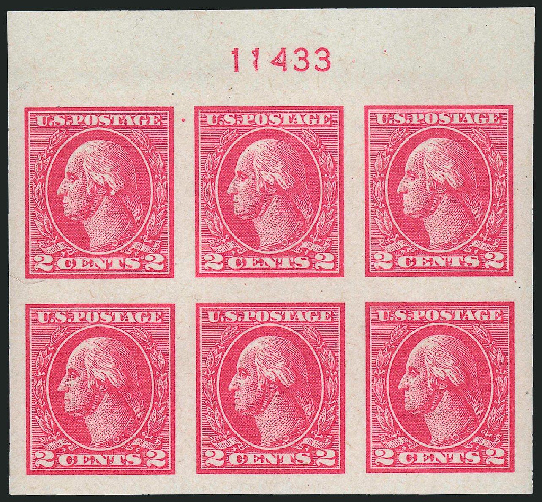 US Stamps Values Scott #534: 2c 1920 Washington Offset Imperf. Robert Siegel Auction Galleries, Dec 2009, Sale 982, Lot 5923