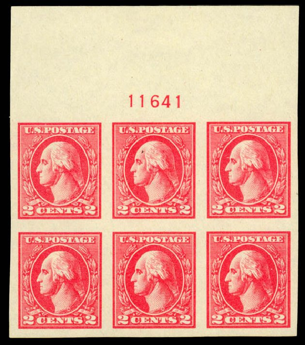 Costs of US Stamps Scott Catalog #534A - 1920 2c Washington Offset Imperf. Daniel Kelleher Auctions, Sep 2014, Sale 655, Lot 727