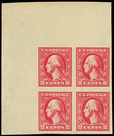 US Stamp Prices Scott Catalog 534A: 2c 1920 Washington Offset Imperf. Daniel Kelleher Auctions, Jul 2011, Sale 625, Lot 1048