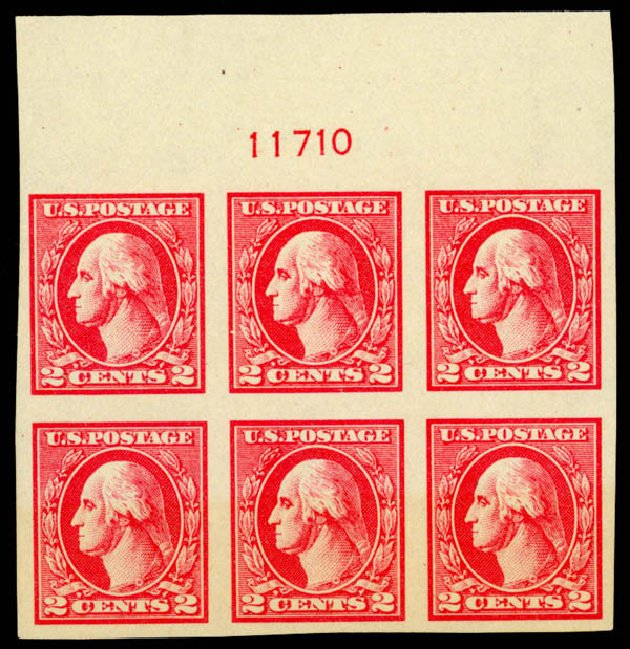 Prices of US Stamp Scott Catalogue # 534A: 2c 1920 Washington Offset Imperf. Daniel Kelleher Auctions, Sep 2014, Sale 655, Lot 728