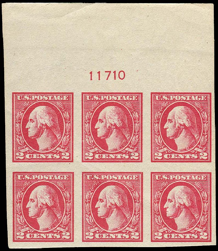 Price of US Stamps Scott Cat. 534A - 1920 2c Washington Offset Imperf. Regency-Superior, Nov 2014, Sale 108, Lot 1348