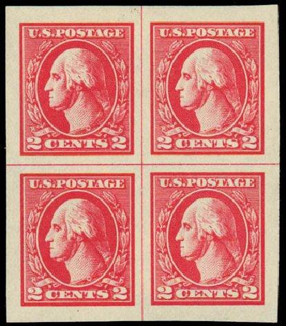 US Stamp Values Scott Catalogue #534A - 1920 2c Washington Offset Imperf. Daniel Kelleher Auctions, Jul 2011, Sale 625, Lot 1049