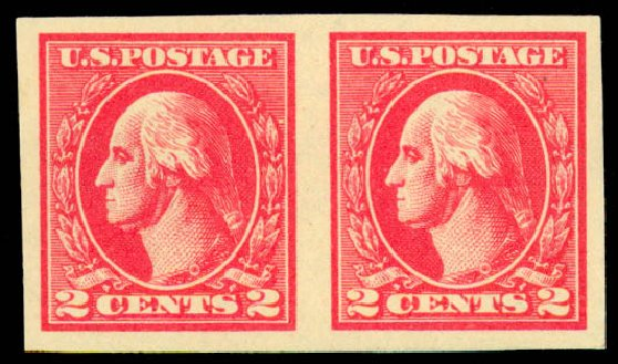 Cost of US Stamp Scott 534A - 2c 1920 Washington Offset Imperf. Daniel Kelleher Auctions, Sep 2013, Sale 639, Lot 3649
