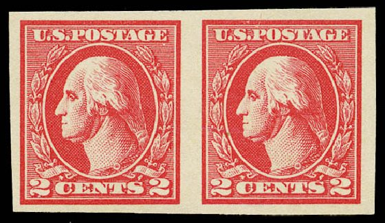 Value of US Stamps Scott Cat. # 534A - 2c 1920 Washington Offset Imperf. Daniel Kelleher Auctions, May 2015, Sale 669, Lot 3129