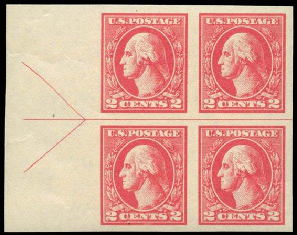 US Stamp Value Scott 534A - 2c 1920 Washington Offset Imperf. Matthew Bennett International, Jun 2008, Sale 328, Lot 1030
